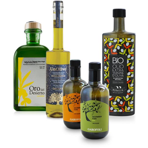 etichette per bottiglie di olio da